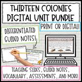 13 Colonies Activities BUNDLE   Digital Activities