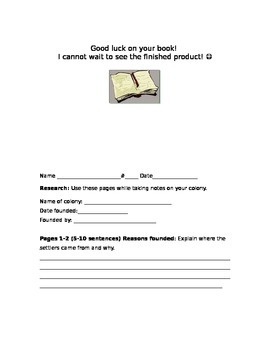 13 Colonies Book Project