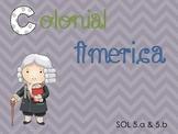 Early American Colonies Bundle (pdf presentation, foldable and worksheet)
