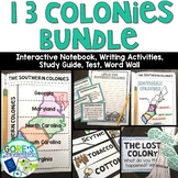13 Colonies Bundle Interactive Notebook, Writing Activitie