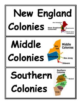 13 Colonies Card Sort