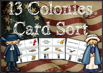 13 Colonies Card Sort Activity