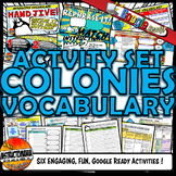 13 Colonies - Colonial America Interactive Vocabulary Acti