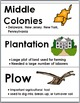 13 Colonies - Social Studies Word Wall with Illustrations