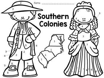 13 Colonies: Color-By-Number BUNDLE