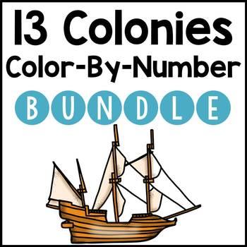 13 Colonies: Color-By-Number BUNDLE