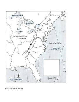 13 Colonies Coloring Map