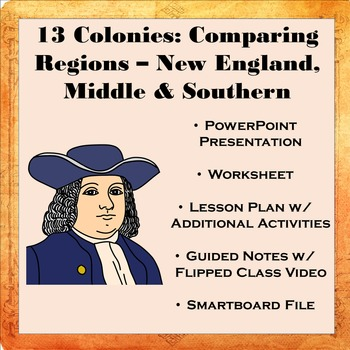13 Colonies: Comparing Regions - New England, Middle, & Southern Colonies