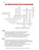 13 Colonies Crossword Puzzle