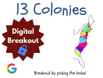 13 Colonies - Digital Breakout! (Escape Room, Scavenger Hunt)