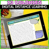 13 Colonies Digital Distance Learning Activity