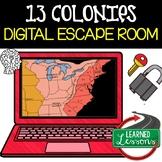 13 Colonies Digital Escape Room, 13 Colonies Breakout Room Test Prep