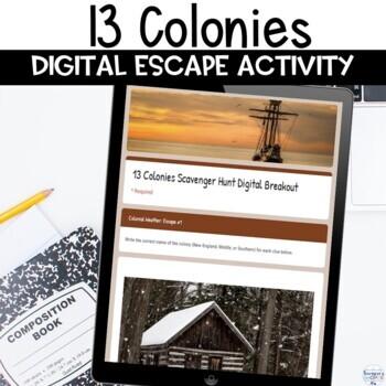 13 Colonies Digital Escape Room Activity