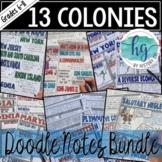 13 Colonies Doodle Notes Bundle