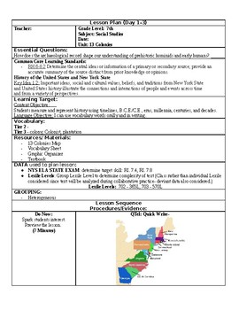 13 Colonies- Dual Language Sp/ En learning segment good for EDTPA or observation
