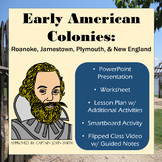 13 Colonies: Early English - Roanoke, Jamestown, Plymouth & New England
