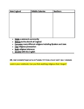 13 Colonies Essay for US History & Past Tense Practice (for ELL students)