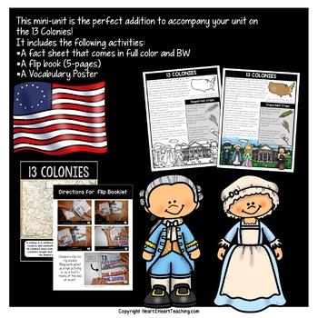13 Colonies Flip Book