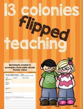 13 Colonies Flipped Teaching Worksheets