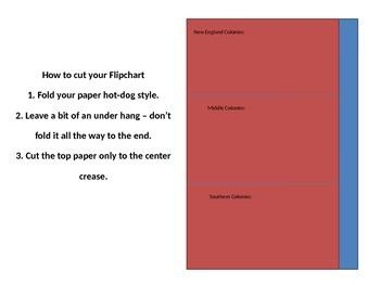 13 Colonies Foldable/Flipchart
