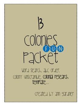 13 Colonies Fun Packet