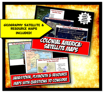 13 Colonies Geography Activity Set - Geography of Colonial America