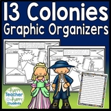 13 Colonies Graphic Organizers: Research Organizers and FREE Writing Paper