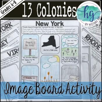 13 Colonies Image Board Activity