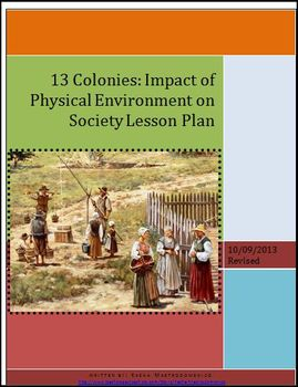 13 Colonies: Impact of the Environment on Society Lesson Plan