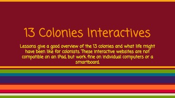 13 Colonies Interacitves