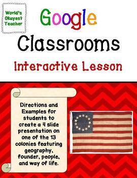 13 Colonies : Interactive Lesson for Google Classroom
