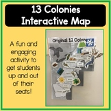 13 Colonies Interactive Map Activity