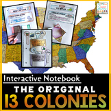 13 Colonies Distance Learning Interactive Notebook | The Thirteen Colonies
