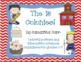 13 Colonies: Interactive Notebook Activities and Colorful