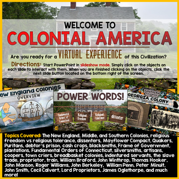 13 Colonies PowerPoint (Interactive)