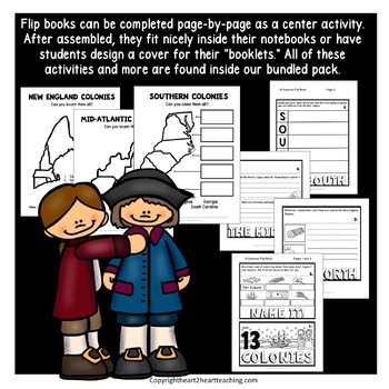 "13 Colonies ""JUST"" Activities Pack with Brochure Organizers and Flipbook"