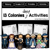 "13 Colonies ""JUST"" Activities Pack with Brochure Organizer"