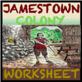 Exciting Jamestown Colony Worksheet: Great Visuals CCLS Aligned