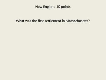 13 Colonies Jeopardy Fun