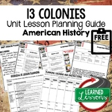 13 Colonies Lesson Plan Guide American History Lesson Plan