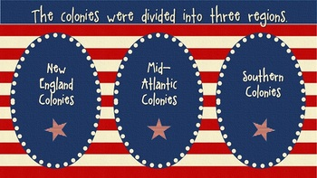 13 Colonies: Life in Colonial Times PowerPoint Lesson and Structured Notes GO