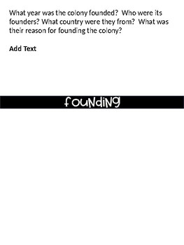 13 Colonies Flipbook - Handwritten or Editable
