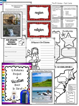 13 Colonies MEGA Unit - New England / Mid-Atlantic / Southern / Grades 3-5