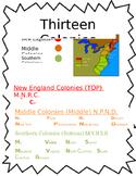 13 Colonies Map