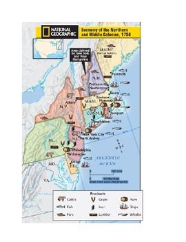13 Colonies Map Activities