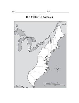 13 Colonies Map Activity