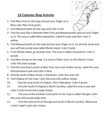 13 Colonies Map Activity