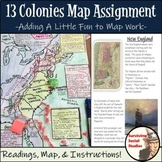 13 Colonies Map Assignment
