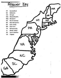 13 Colonies Map Cut and Paste Project