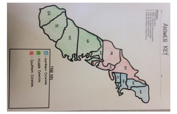 13 Colonies Map Project (11x17)
